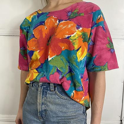 Pina colada | 90's vibes floral t-shirt