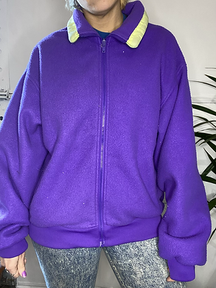 Its Grape | Vintage polar fleece sweater