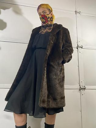 Hot cocoa | faux fur vintage jacket