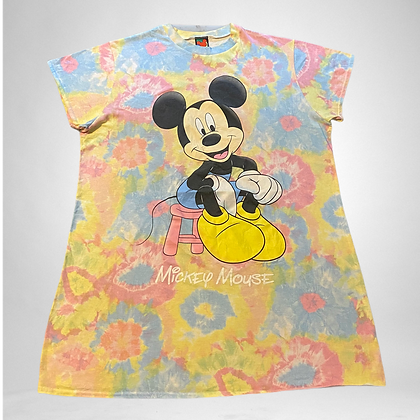Mickey on mush | Vintage tie dye Mickey Mouse T-shirt dress