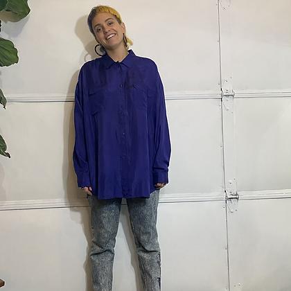 San Fernando | Vintage Purple Silk shirt