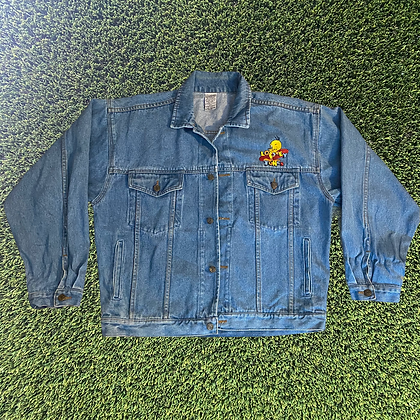 I thought I saw a poody cat   vintage Looney Tunes denim jacket