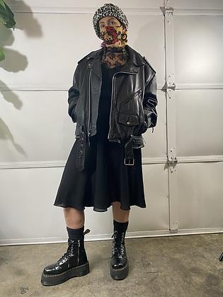 Biker bitch | 90's black leather jacket