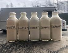 Our homemade nut milks!