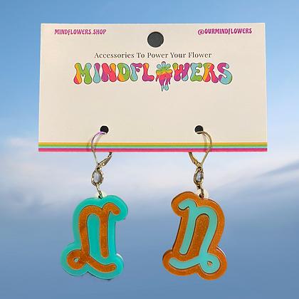 Capricorn earrings by MindFlowers
