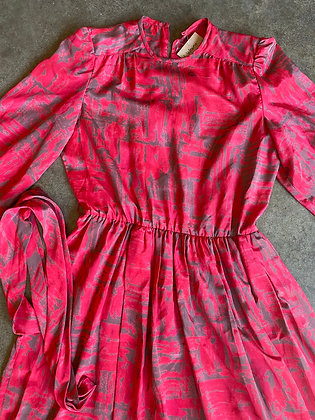 Little red riding hood   vintage red dress  