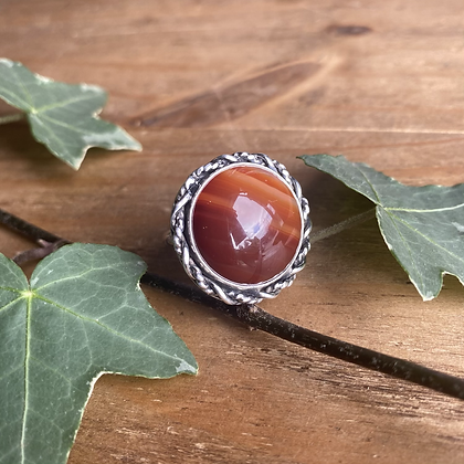 Agate Ring by Silversmith Spirit