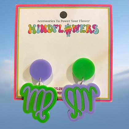 Virgo earrings by MindFlowers