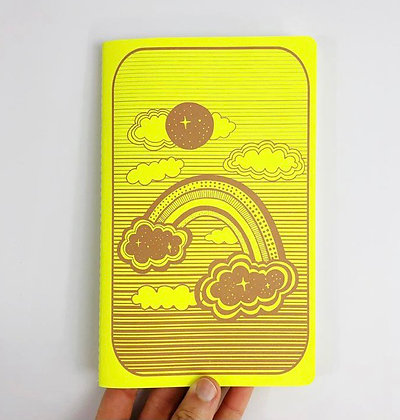 Space Rainbow dot notebook by The Rainbow Vision
