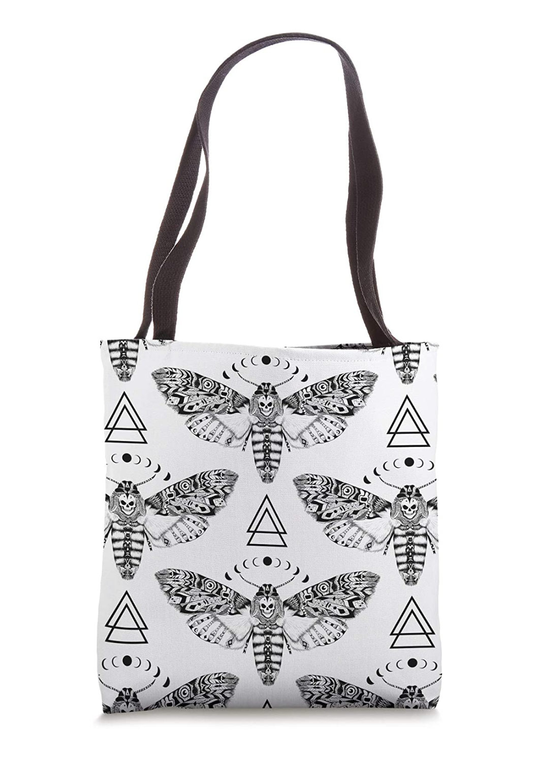 Death Moth Pattern Tote Bag