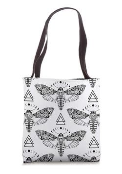 Death Moth Pattern Tote Bag