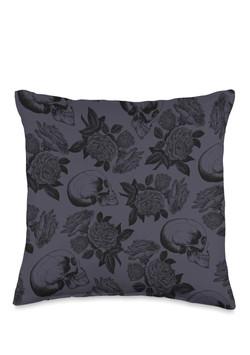 Skulls & Roses Throw Pillow