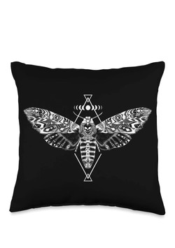 Death Moth Throw Pillow