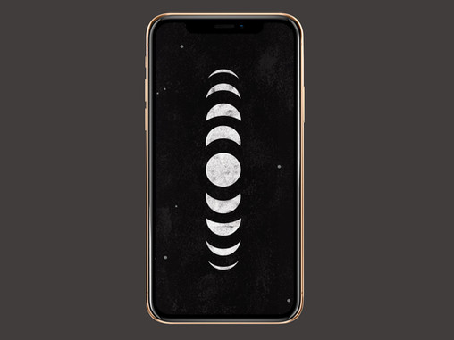 Moon Phase Phone Wallpaper