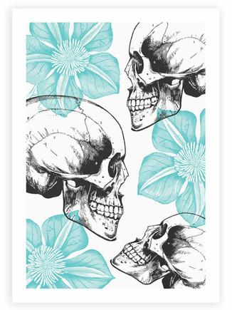 Skulls & Flowers • Wall Art