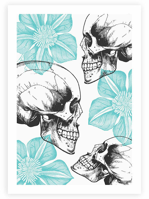 Romantic Goth Skull Art home decor. Gothic, Rockabilly, Emo style PRINTABLE WALL ART for your home.