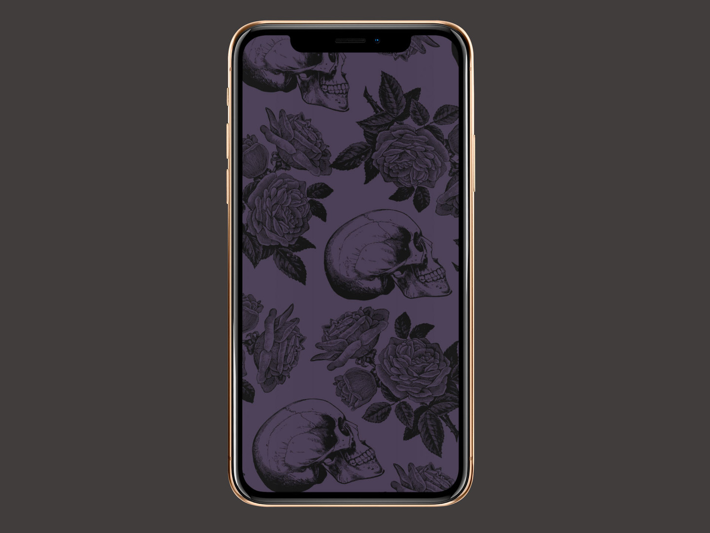 Free Goth Aesthetic Phone Wallpaper Skulls And Roses