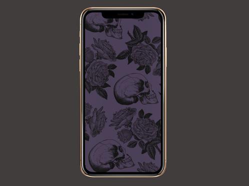 Free Goth Aesthetic Phone Wallpaper Skulls And Roses
