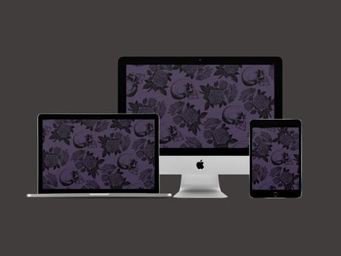 Skulls & Roses Wallpaper