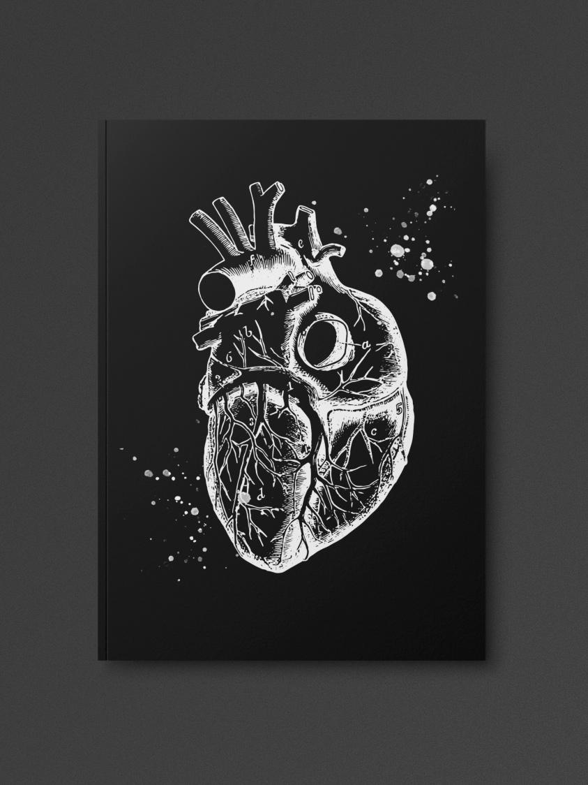 Anatomical Heart Notebook