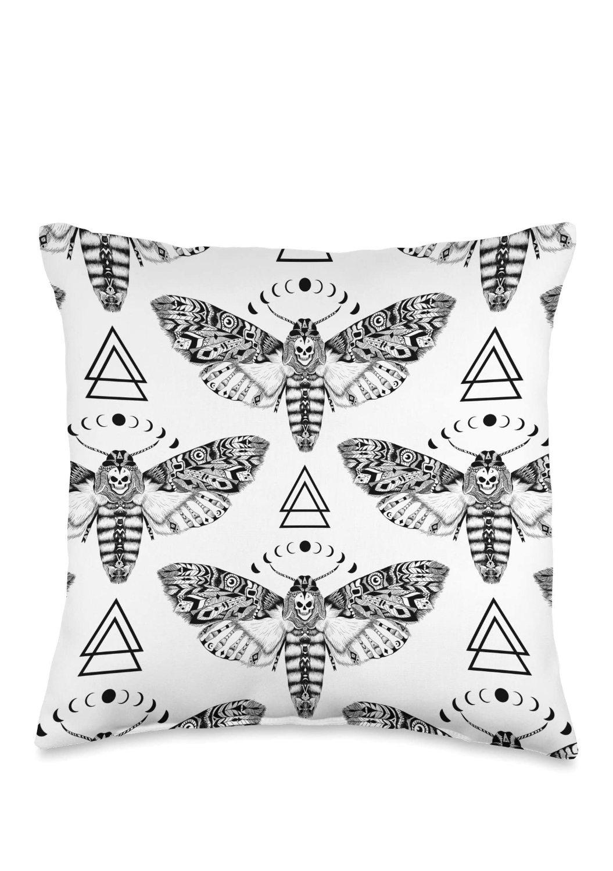 Death_Moth_Pattern_Throw_Pillow
