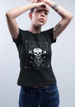 Nu Goth Skull Women T-Shirt