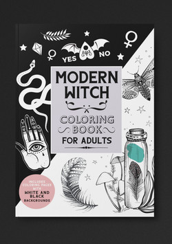 Modern Witch Coloring Book