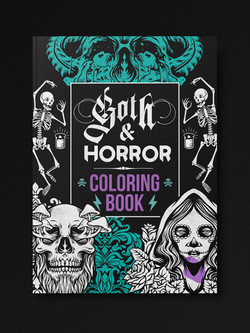 Goth & Horror Coloring Book
