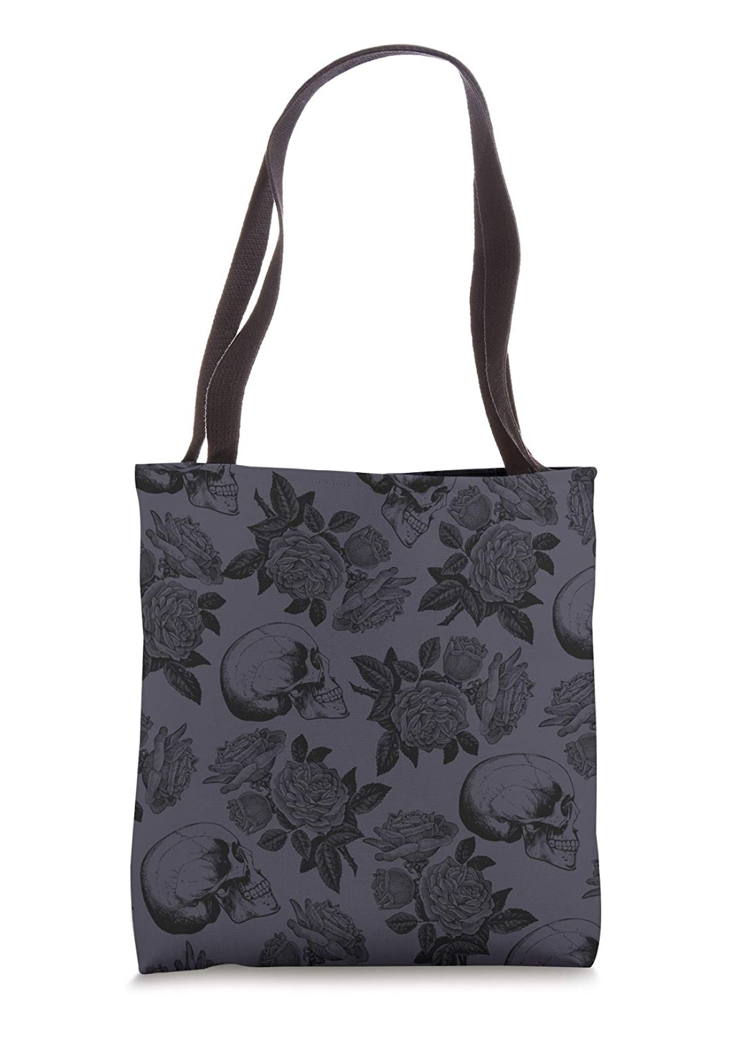 Skulls & Roses Purple Tote Bag