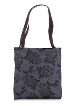Skulls & Roses Purple Tote Bag