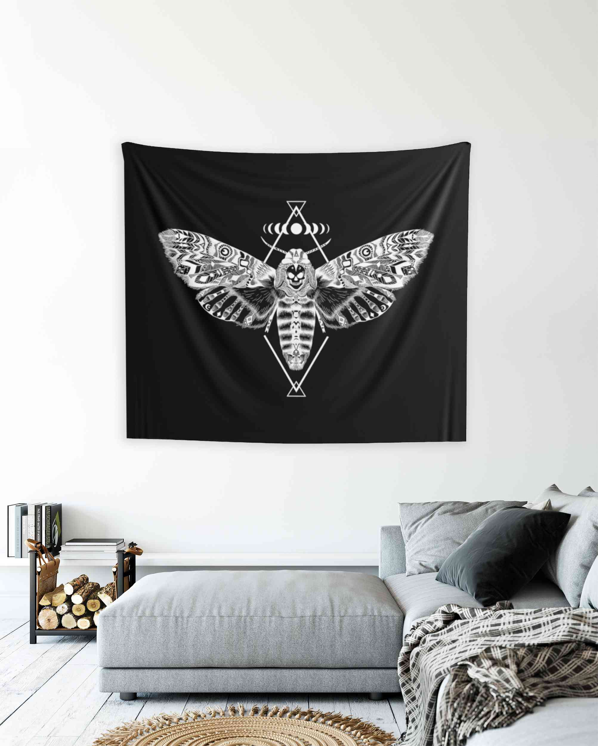 Death Moth Tapestry
