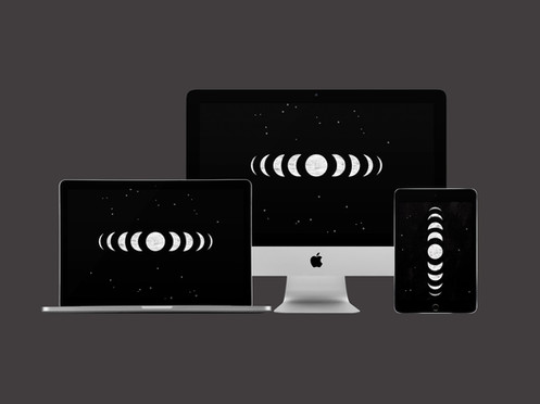 Free Goth Moon Digital Wallpaper