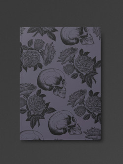 Skulls & Roses Goth Notebook