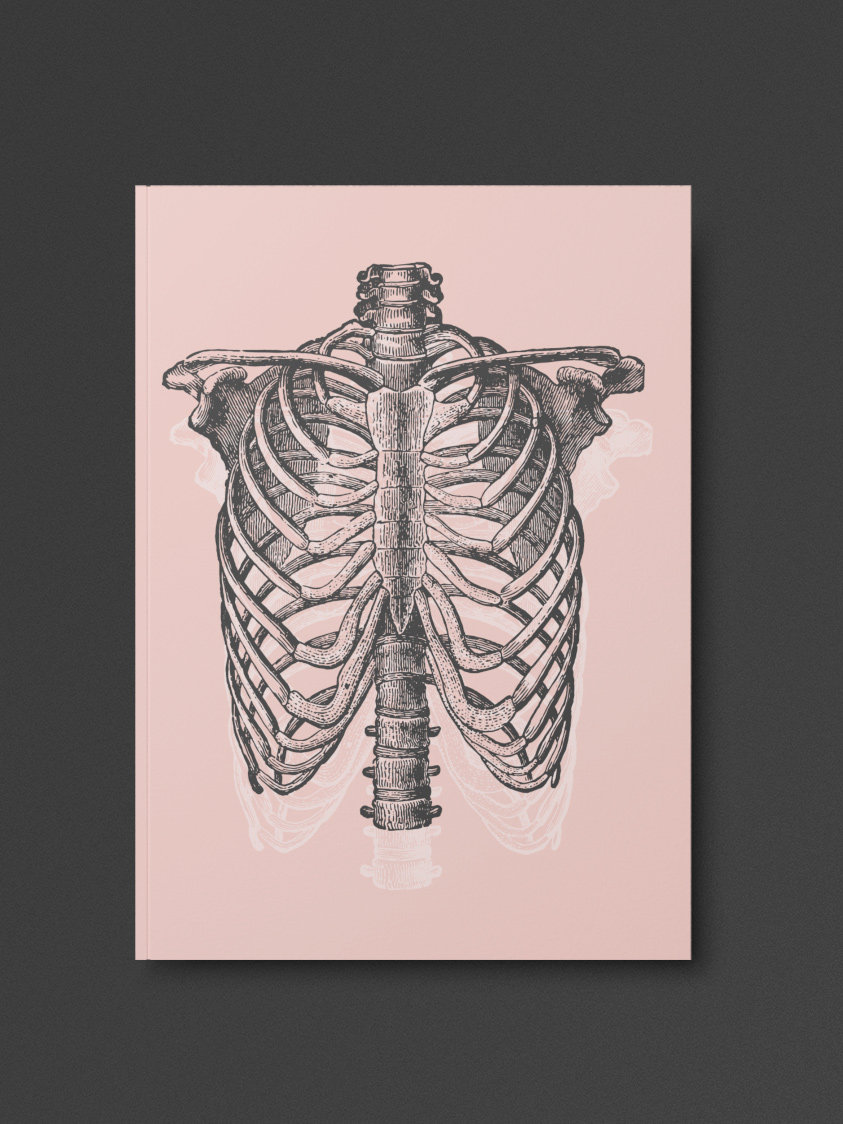Pastel Goth Ribcage Notebook