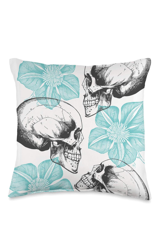 Skull_Flowers_Throw_Pillow