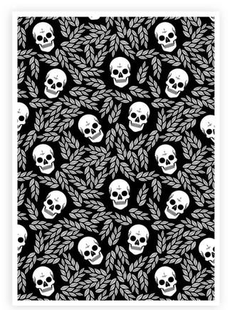 Skulls & Leaves Pattern • Wall Art