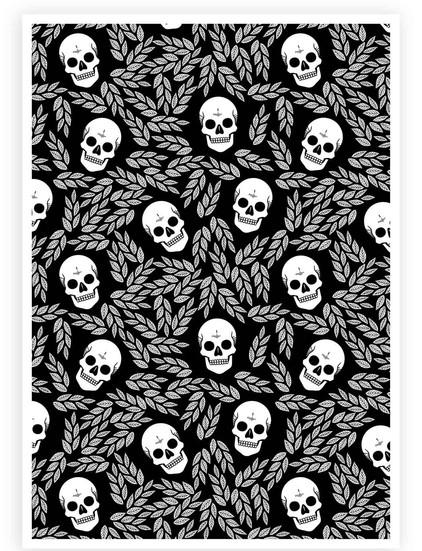 Skulls & Leaves Pattern Wall Art • PRINTABLE