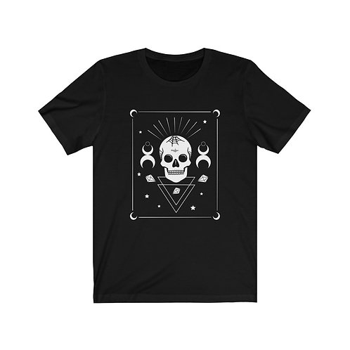 Skull & Moon T-Shirt, Gothic Tee, Goth Clothing, Witch Clothing