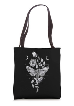 Witchy Death Moth Tote Bag