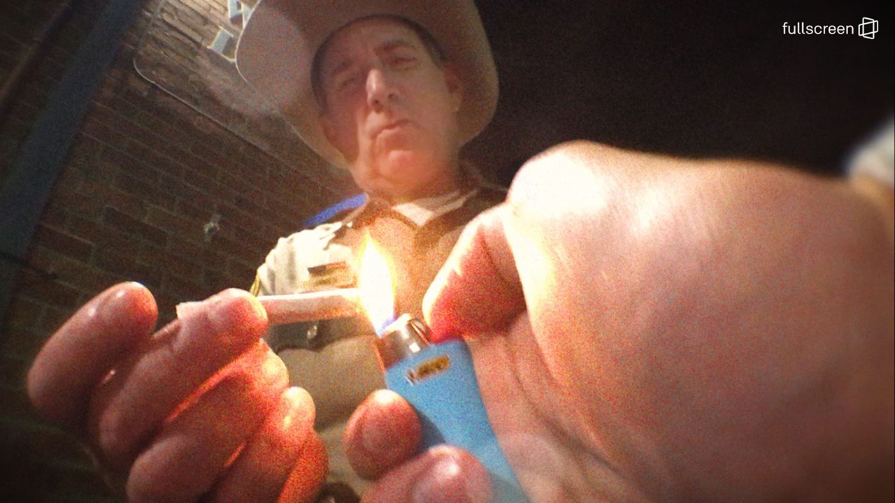CAUGHT ON CAMERA: Sheriff smokes weed