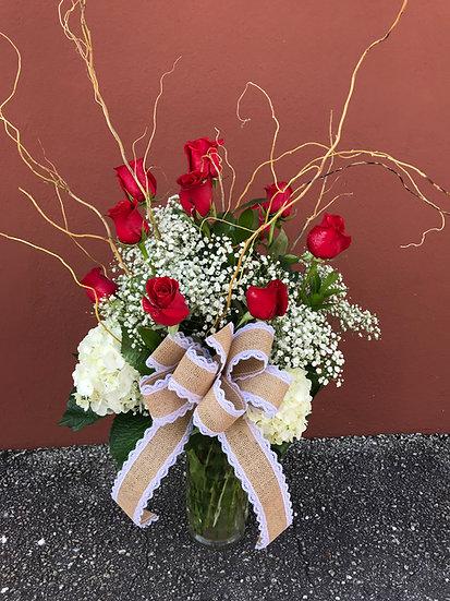 1 Dozen Romantic Roses