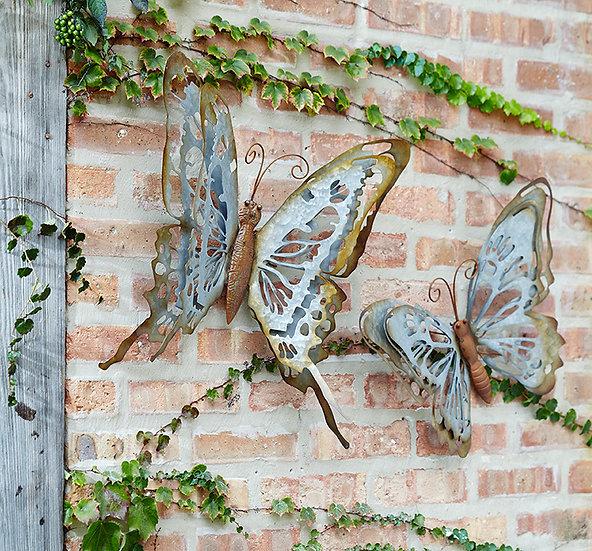 Set of Metal Butterflies