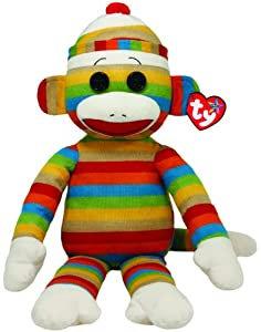Large Striped Sock Monkey