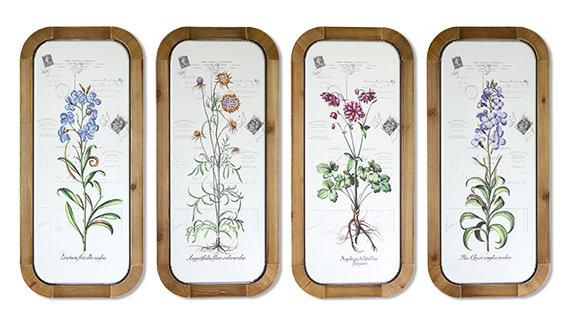 Floral Plaques Set of 4
