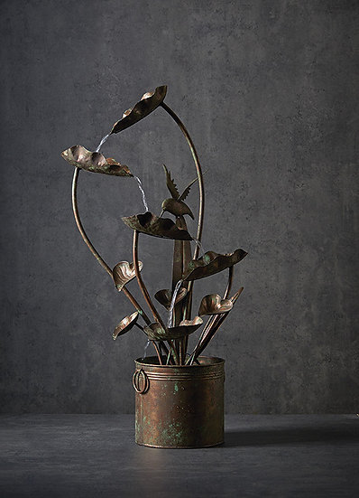 Zen Anthurium and Hummingbird Fountain