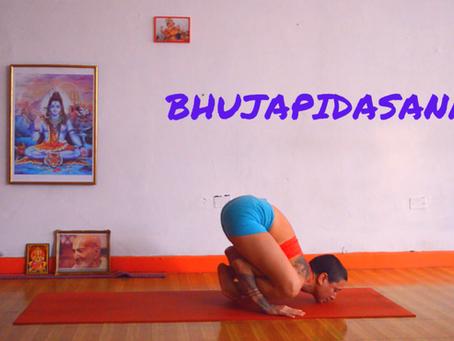 Como hacer bhujapidasana