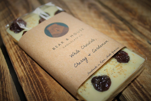 White Chocolate, Cherry & Cardamom Bar