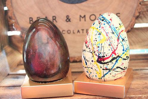 White Splatter Easter Egg