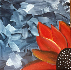 Big Flower (mult-colored) - 12x12 si