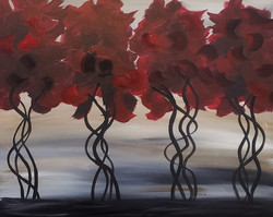 Red Trees  16x20